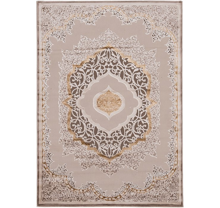 5' 3 x 7' 5 Carved Aubusson Rug