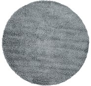 Link to 152cm x 160cm Solid Shag Round Rug