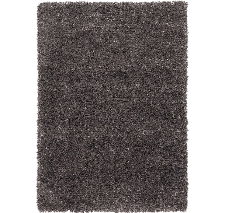 5' x 7' Luxe Solid Shag Rug