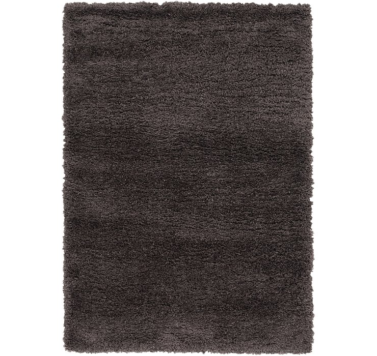 5' 2 x 7' 8 Luxe Solid Shag Rug