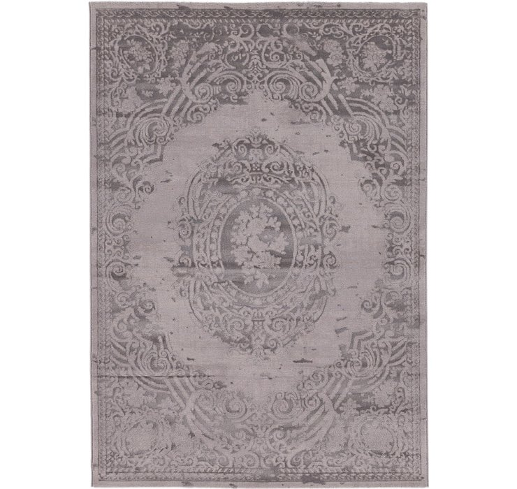 5' 4 x 7' 8 Carved Aubusson Rug