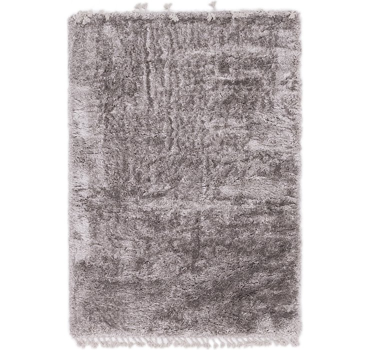 5' 2 x 7' 7 Luxe Solid Shag Rug