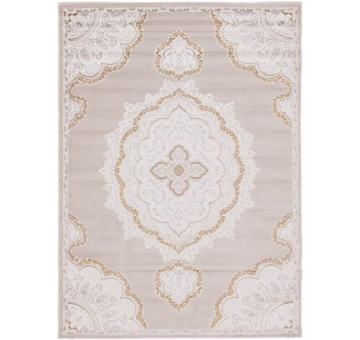 5' 3 x 7' 3 Carved Aubusson Rug