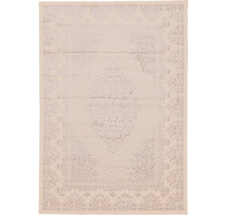 5' 4 x 7' 7 Carved Aubusson Rug