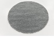 Link to 125cm x 125cm Solid Shag Round Rug