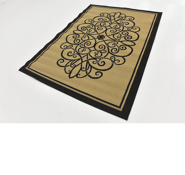 5' x 7' Outdoor Botanical Rug