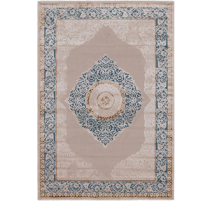 5' 3 x 7' 7 Carved Aubusson Rug