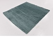 Link to 163cm x 170cm Solid Shag Square Rug