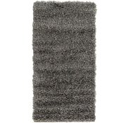 Link to 55cm x 117cm Luxe Solid Shag Runner Rug