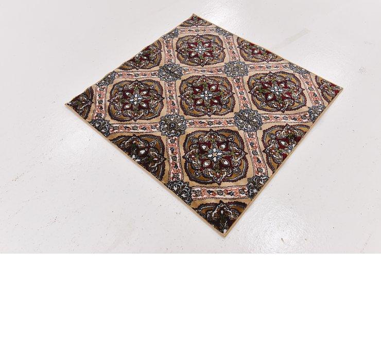 3' 3 x 3' 3 Damask Square Rug