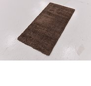 Link to 60cm x 122cm Luxe Solid Shag Runner Rug
