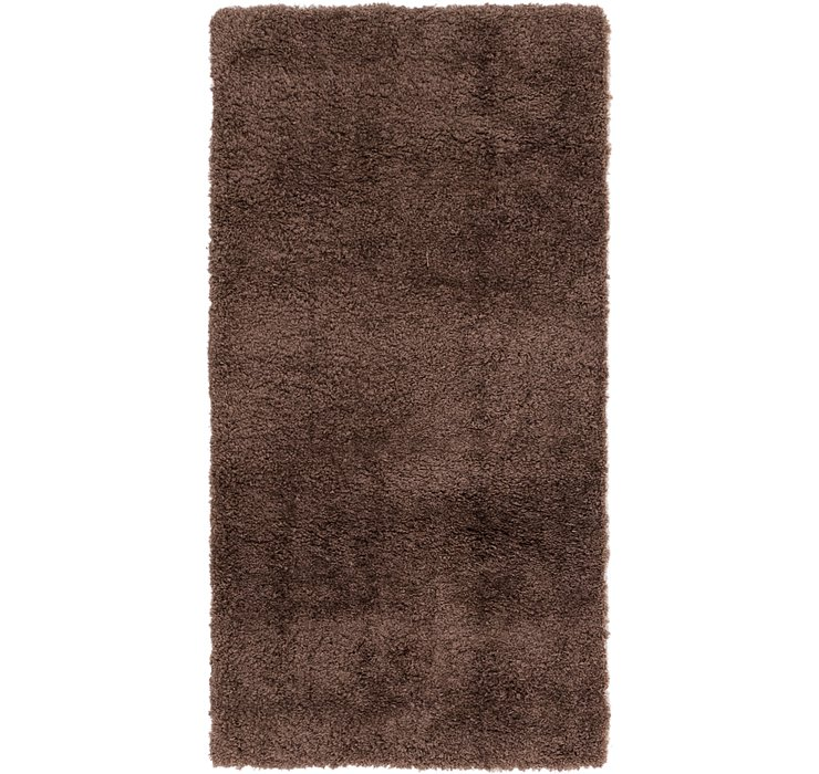 2' x 4' Luxe Solid Shag Runner ...