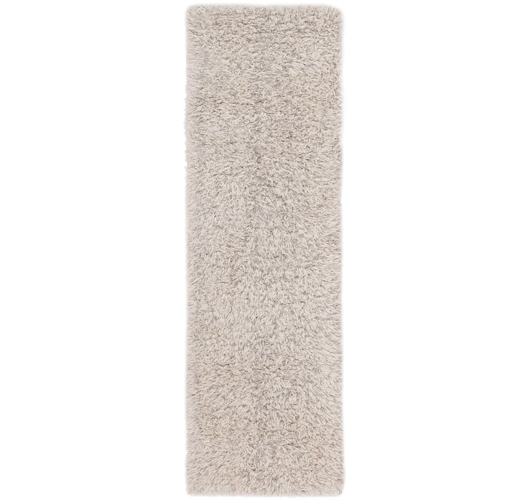 2' 3 x 7' 5 Luxe Solid Shag Runner ...