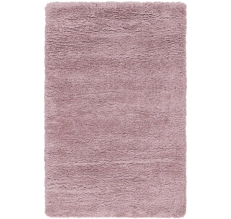 4' x 6' Luxe Solid Shag Rug