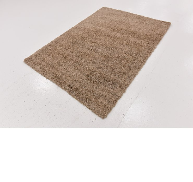 4' 5 x 6' 3 Luxe Solid Shag Rug