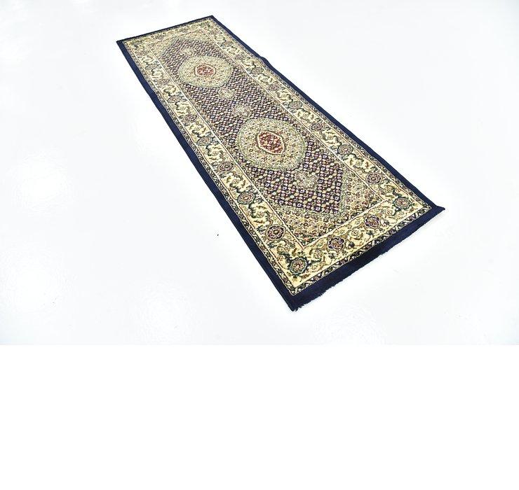 2' 7 x 7' 7 Tabriz Design Runner Rug