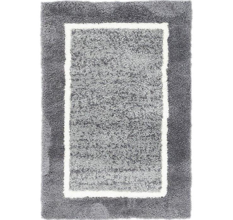 2' 8 x 4' Multi-Tone Shag Rug