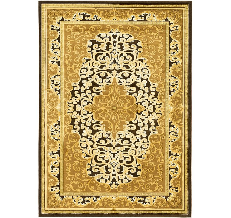 9' 3 x 13' Carved Aubusson Rug