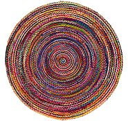 Link to 245cm x 245cm Braided Chindi Round Rug