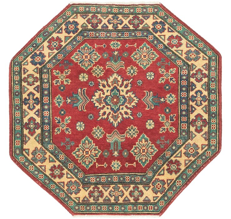 3' 4 x 3' 4 Kazak Octagon Rug