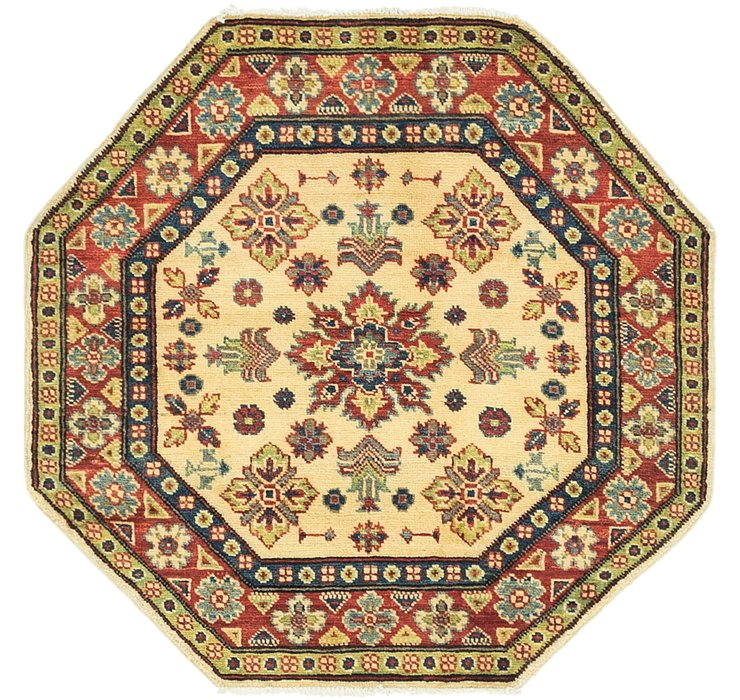 3' 3 x 3' 4 Kazak Octagon Rug