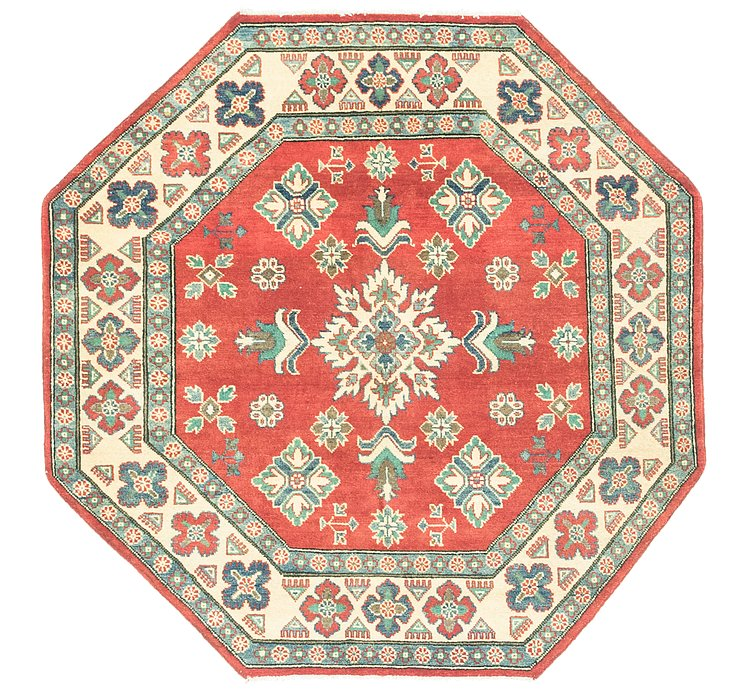 4' 10 x 4' 10 Kazak Octagon Rug