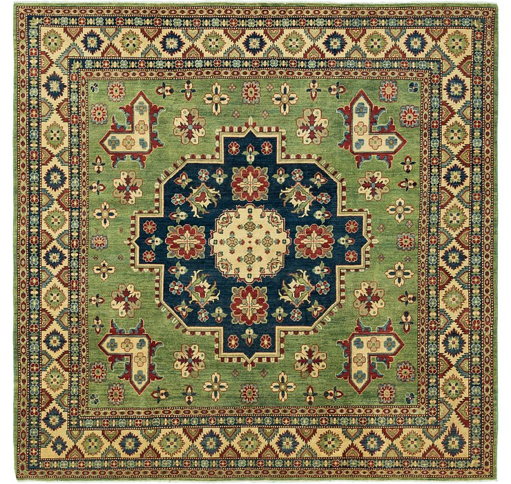 9' 9 x 9' 9 Kazak Square Rug