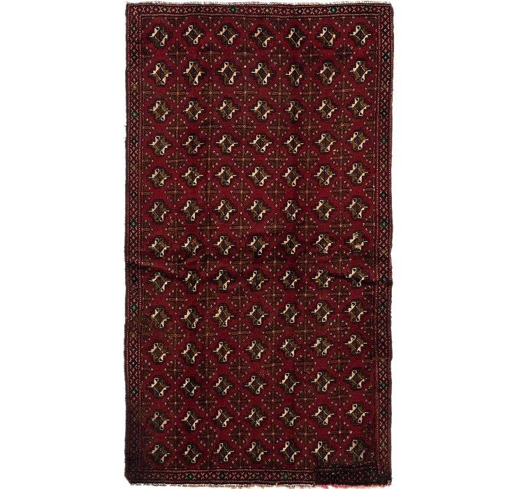 4' 3 x 7' 8 Torkaman Persian Rug