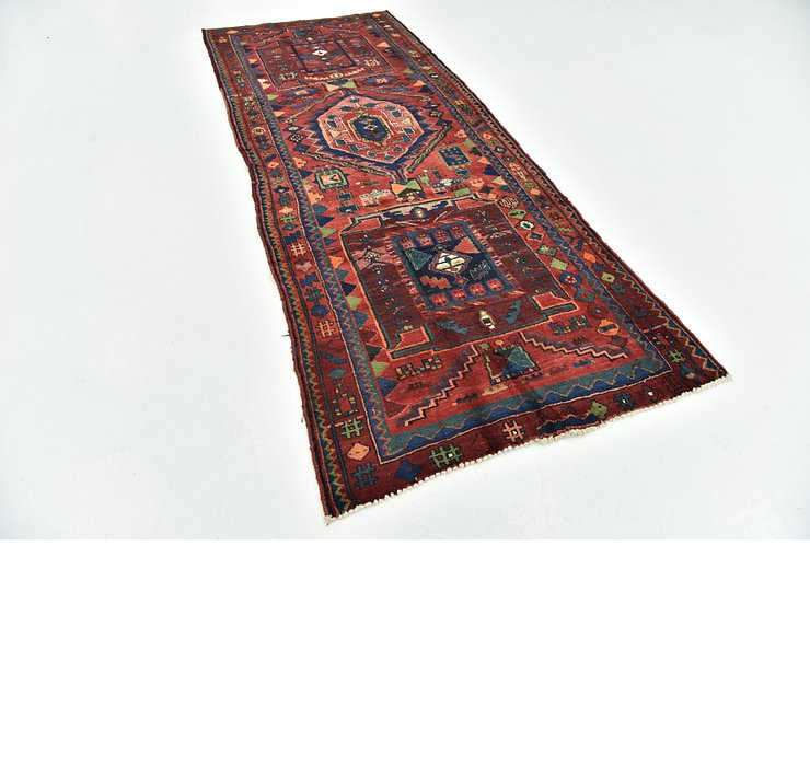 3' 10 x 9' 5 Hamedan Persian Runner ...