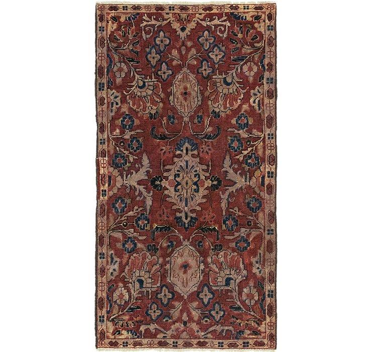 3' x 5' 10 Meshkabad Persian Rug
