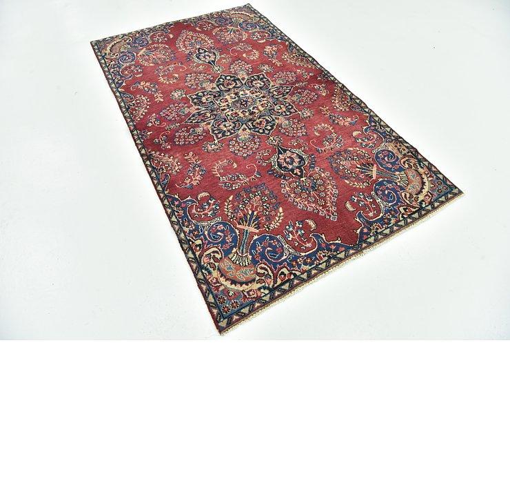 4' 2 x 7' 1 Mashad Persian Rug