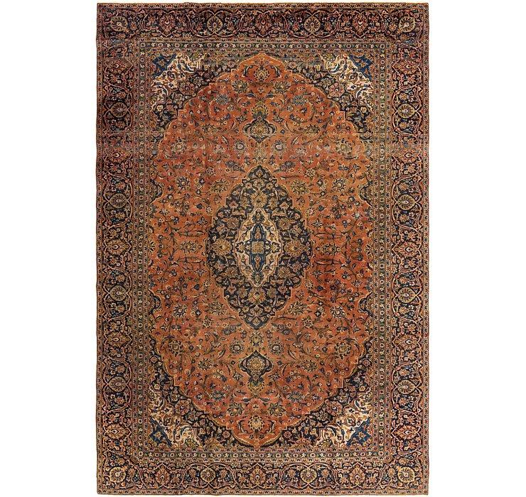 9' 1 x 13' 9 Kashan Persian Rug