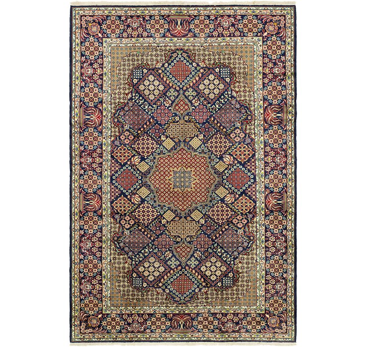 10' 1 x 15' 2 Isfahan Persian Rug