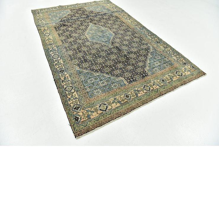 6' x 9' 4 Sanandaj Persian Rug