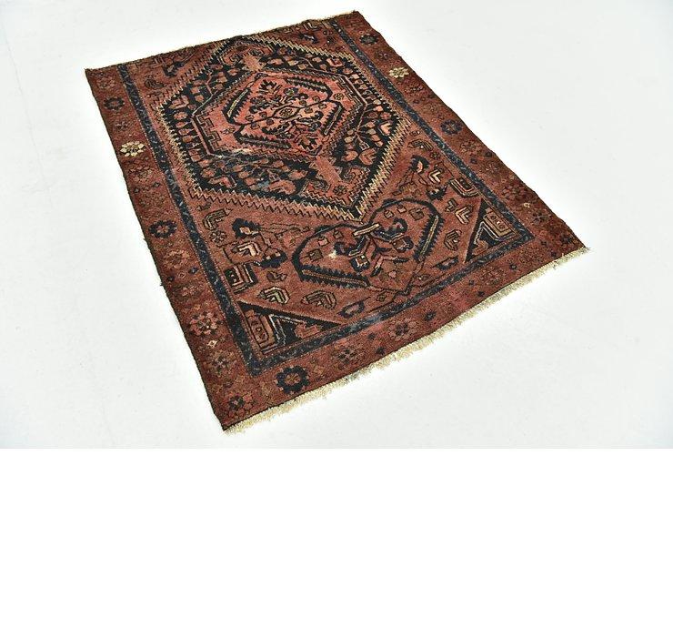 3' 10 x 4' 9 Zanjan Persian Square Rug