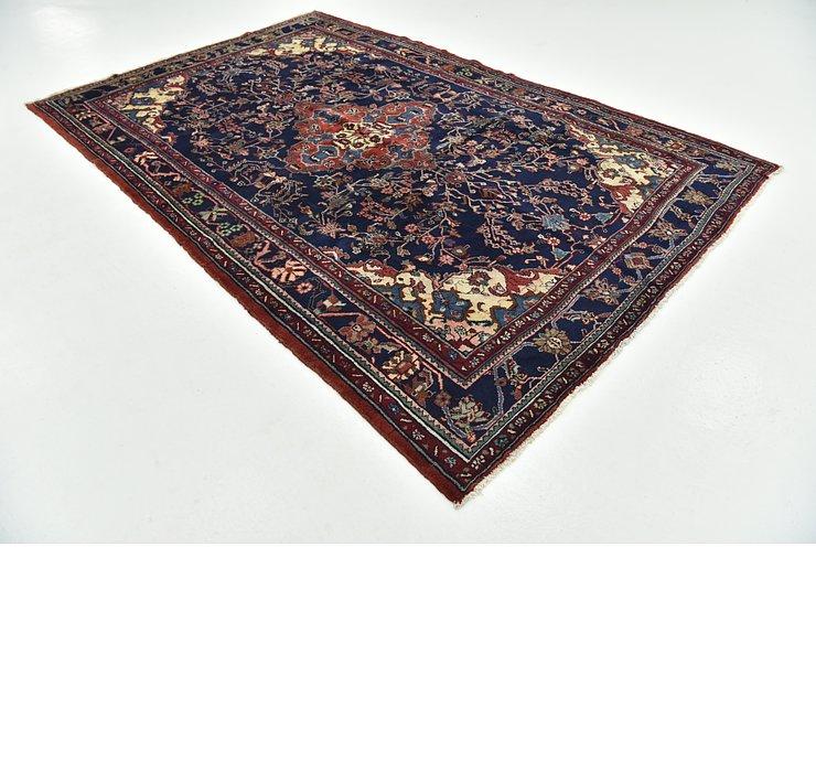 7' x 10' 6 Hamedan Persian Rug
