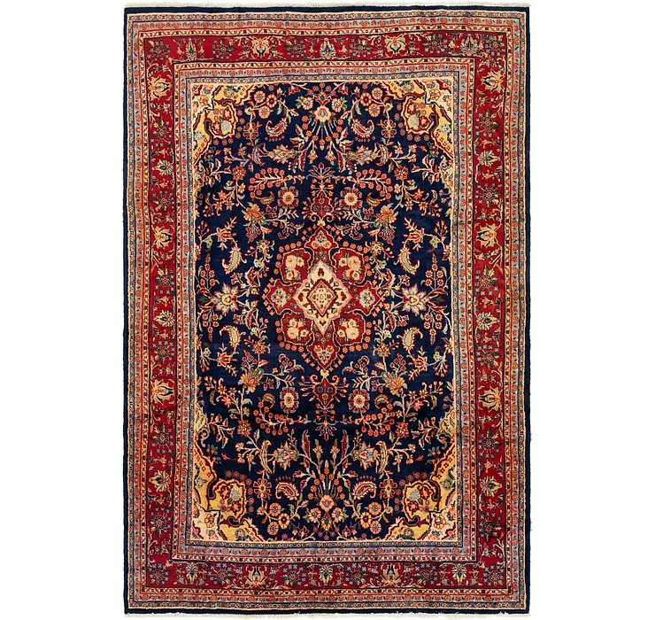 6' 7 x 10' 1 Hamedan Persian Rug