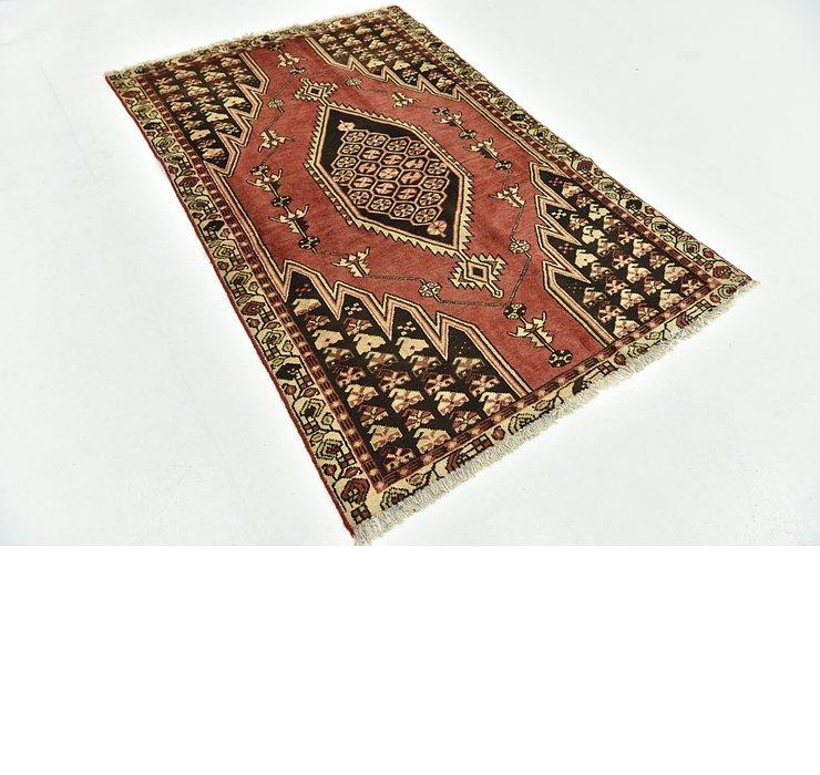 4' x 6' 4 Mazlaghan Persian Rug