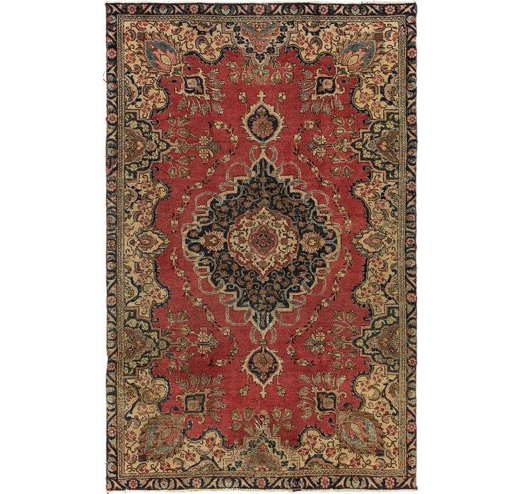 5' 1 x 8' 3 Tabriz Persian Rug
