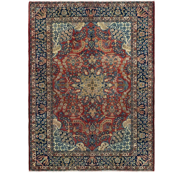 7' 5 x 10' Isfahan Persian Rug