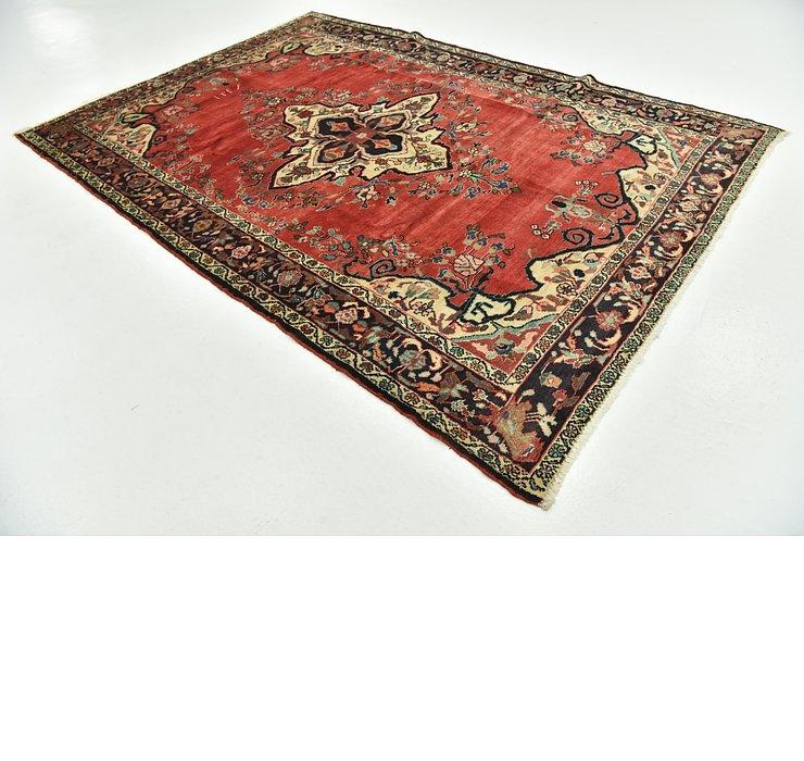 7' 1 x 10' Hamedan Persian Rug