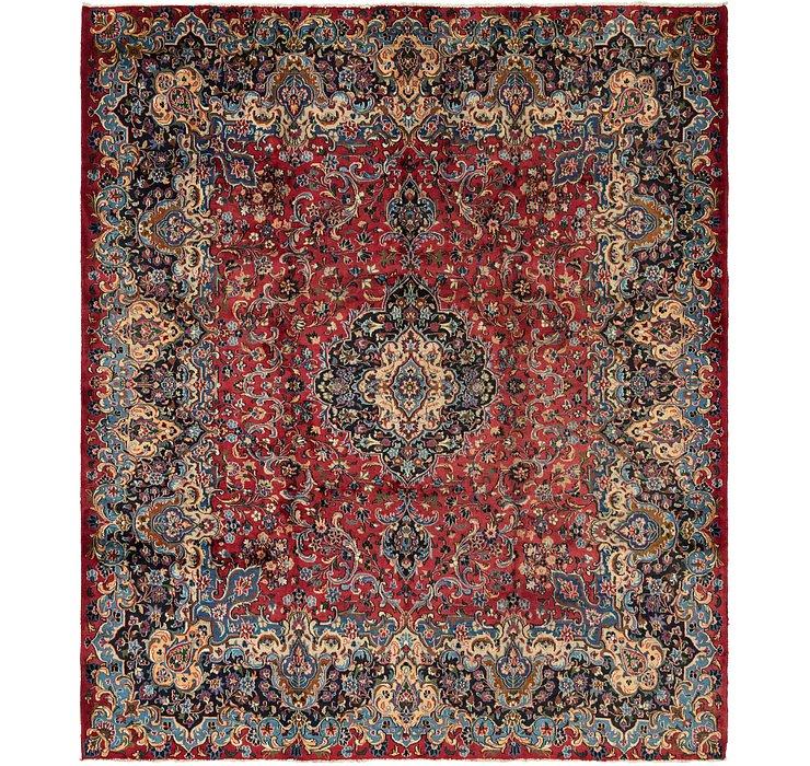 9' 9 x 11' 4 Mashad Persian Square Rug