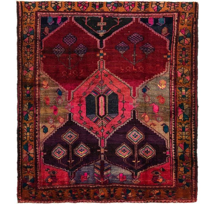 5' 4 x 6' Shiraz-Lori Persian Squ...