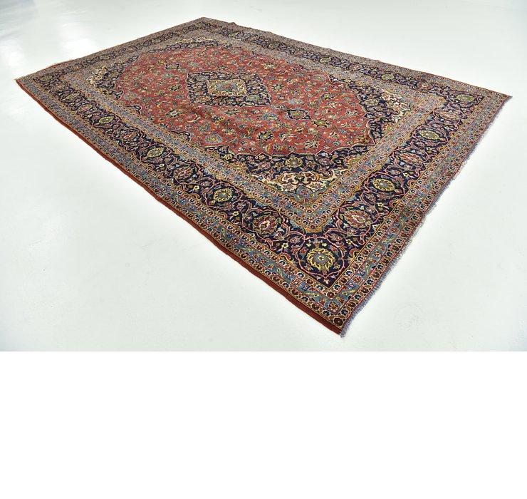 8' x 12' 4 Kashan Persian Rug
