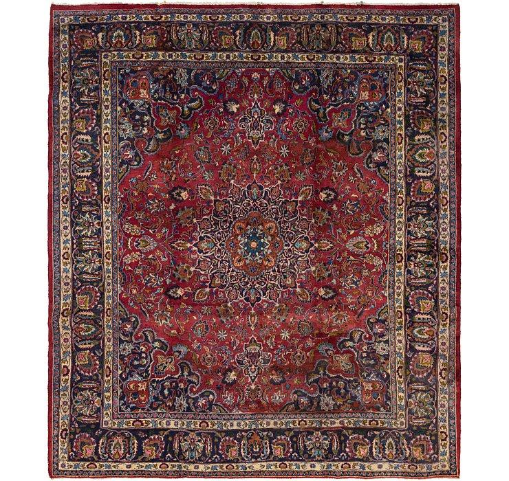 9' 7 x 11' Mashad Persian Square Rug