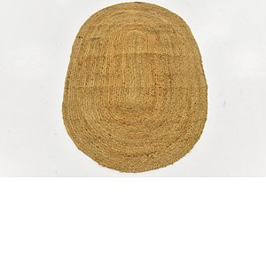 Link to 97cm x 147cm Braided Jute Oval Rug item page