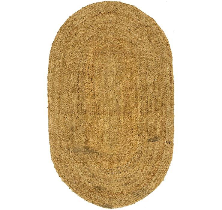 97cm x 147cm Braided Jute Oval Rug