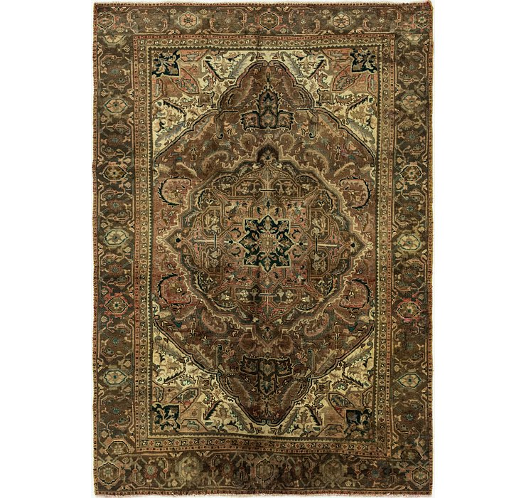 6' 3 x 9' 3 Heriz Persian Rug