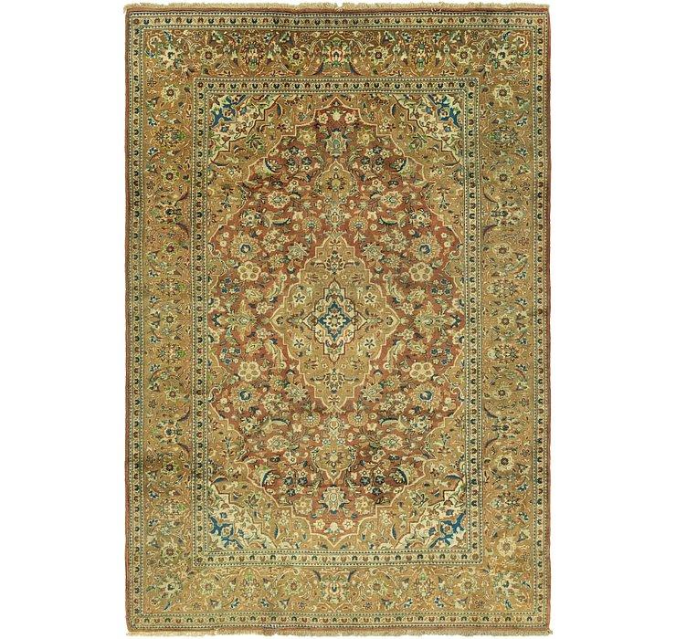 6' 7 x 9' 9 Kashan Persian Rug