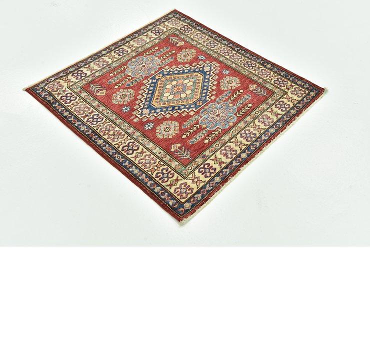 3' 1 x 3' 1 Kazak Oriental Square Rug
